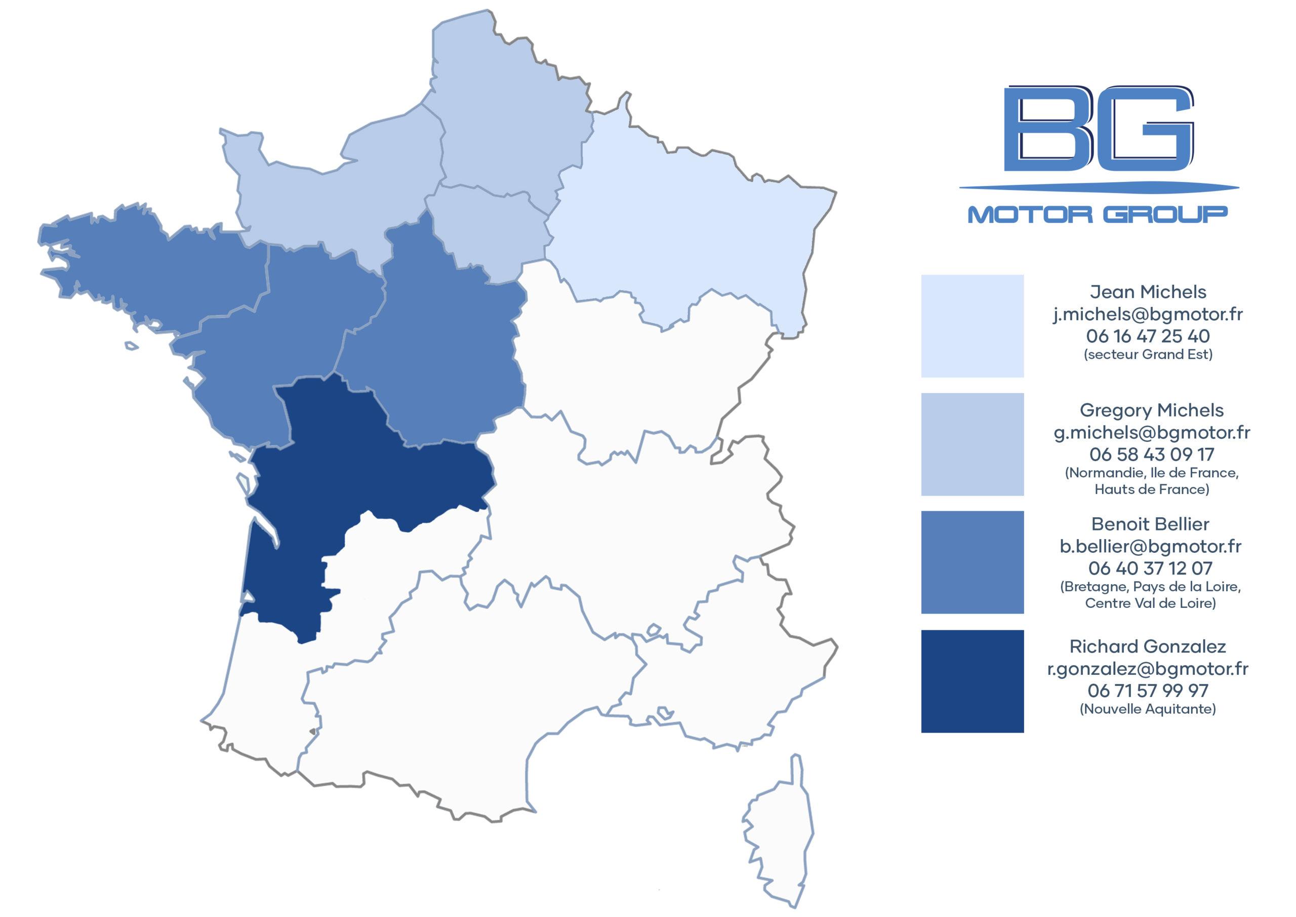 BG Motor Group regions